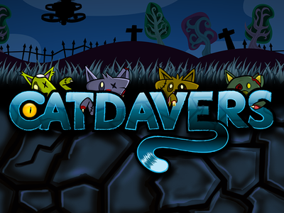 Catdavers catdavers zombies cats illustration logo 2d game ios