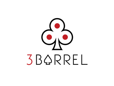 3Barrel typography lettering design illustration flat logo branding 2d