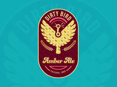 Dirty Bird bird beer illustration vector branding typography design logo flat 2d