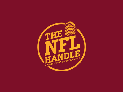 The NFL Handle mic radio nfl football typography vector 2d logo flat