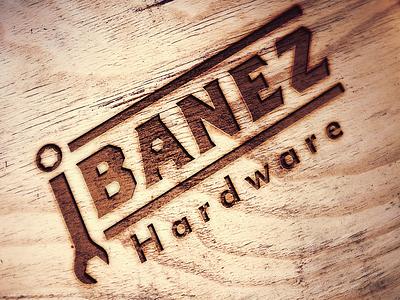 Ibanez typography hardware 2d flat logo