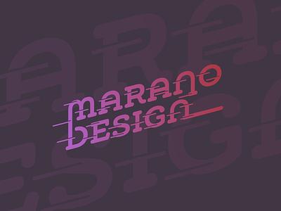 Marano Design marano design typography vector flat 2d logo
