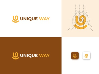 Unique way Logo Design