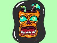 Zombie head cocktail 🍻