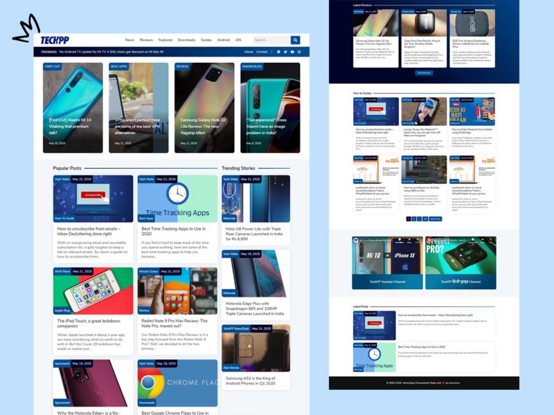 TechPP Redesign website design logo wordpress live leader redesign web ux ui blog