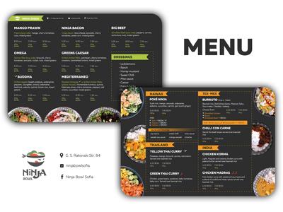 Ninja Bowl - Restaurant menu