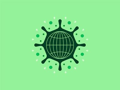 Global pandemic covid19 coronavirus corona covid icons editorial illustration