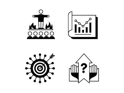 Spot illos. icons editorial illustration