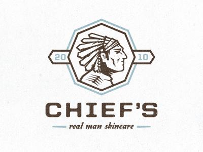Chief's Skincare logo #2 identity logo light blue