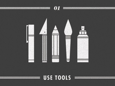 #01 - Use Tools advice illustration typography