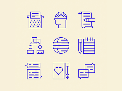 Concepts for Commonweal editorial icons illustration