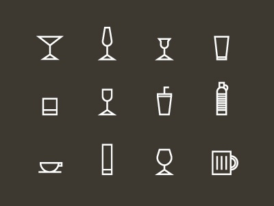 Drink Icons illustration icons free