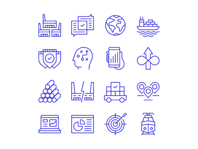 Logistics icon set ✨🏭✨ editorial icons illustration