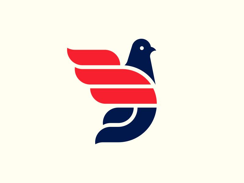 Unused Pigeon Logo. illustration