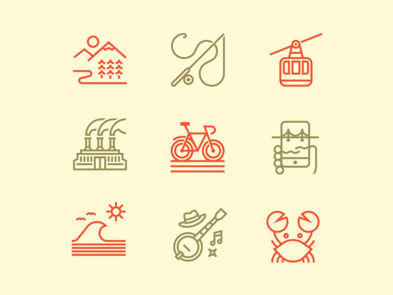 Men's Journal Illustations editorial illustrations icons