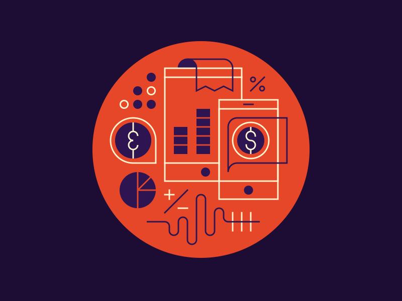 IBM. editorial illustration