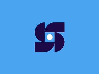 S drones brand mark logo identity