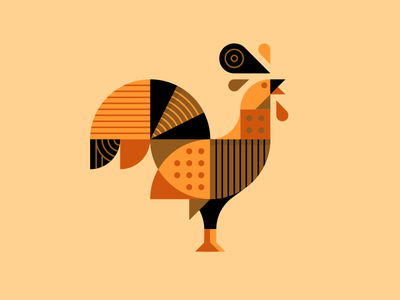 Henrik the Hen. poultry chickens peacock hen chicken illustration