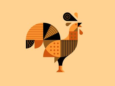 Henrik the Hen. poultry chickens peacock hen chicken illustration