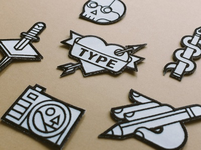 Lost Type Patches losttype illustrations patches