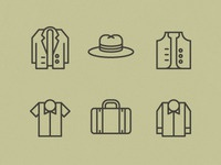 Men's Garments Icons