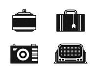 Fragrance, Suitcase, Camera, Radio.