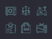 Six icons.