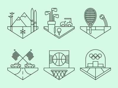 Sports Crests. illustration editorial