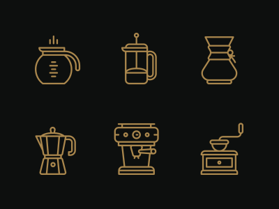 Coffee. icons monicons illustrations