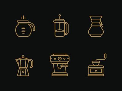 Coffee. icons monicons illustrations