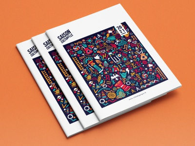 Cover Saison Culturelle I Garges doodle typography magazine editorial design illustration graphic cover brochure print