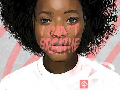 Black Lives Matter black lives matter icantbreathe blacklivesmatter digital painting illustrator sketch illustration graphic racism