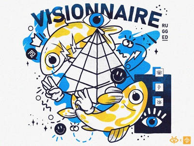 BigFlo & Oli - Visionnaire concept concours poster sketch digital painting vector colorful illustrator illustration graphic