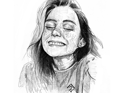 Scribble sketch - Alina Kalenich commission people collection visage croquis print sketchbook speed drawing scribble graphic portrait ink poster sketch illustration