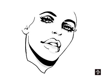 Love Deep digital illustration digital painting rough face portrait minimalist pencil design poster sketch graphic illustrator illustration dot ink