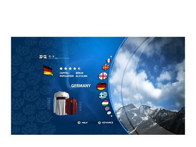 UEFA Euro 2008 uidesign user experience xbox ps4 ps3 ui userinterface