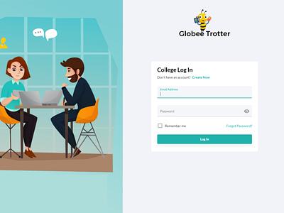 college login web logo design ui ux branding uxdesign uidesign
