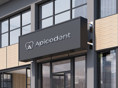 Apicodent Logo Design animation flat minimal clean icon typography photoshop store design mockup identity graphic design branding brand illustration logo