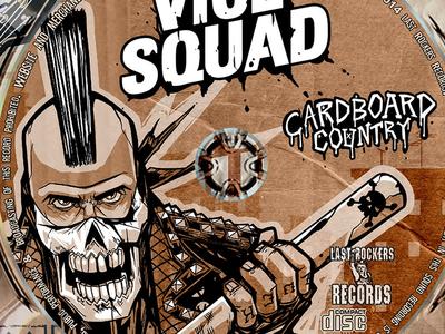 Cardboard Country CD Art punk vice squad album art skull