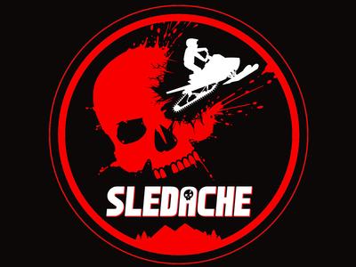 Sledache Logo vector logo skull snowmobile