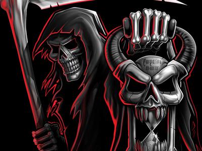 Reaper skull photoshop illustration draw tattoo death reaper