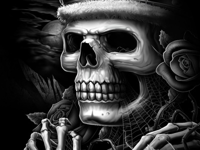 Long Live The King spider rose king skull shirtdesign apparel