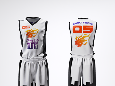 Queen City SUNS Jersey Design (Home version) brand identity brand strategy graphic design clothing design product design jersey