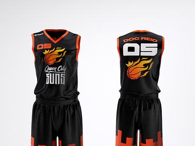 Queen City SUNS Jersey Design (Away version) design logo design graphic design brand strategy brand identity basketball sports clothing design jersey