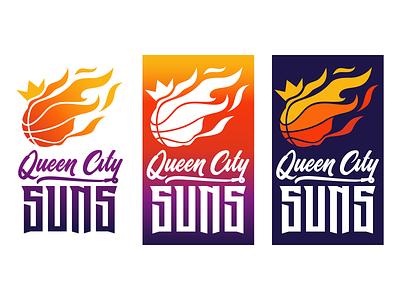 Queen City SUNS Logo design logo design illustration logo design branding graphic design brand strategy brand identity brand id