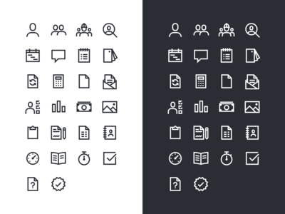 Construction Project Management App Icon Set