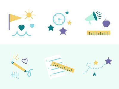 Embrace Program Illustrations summer camp summer illustration kids icons nonprofit