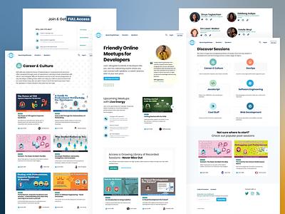 CFE.dev Site Redesign visual design developers website redesign homepage marketing design marketing uidesign ui