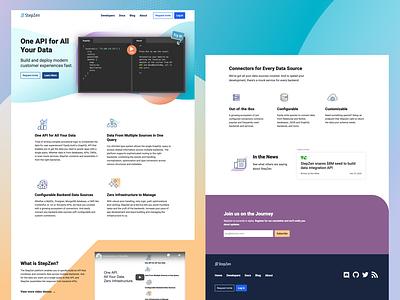 StepZen Site logo icons branding marketing site web design tech startup startup