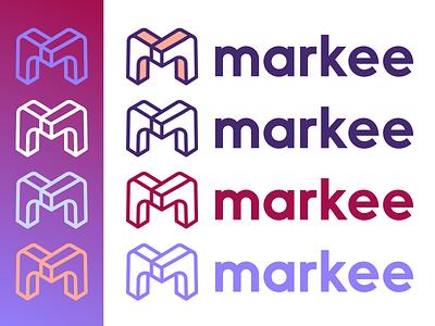 Markee Logo startup logo startup marquee m logo blocks brand design brand identity marketing branding logo